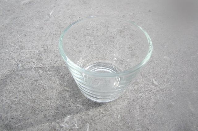 Theelichthouder glas 6 cm