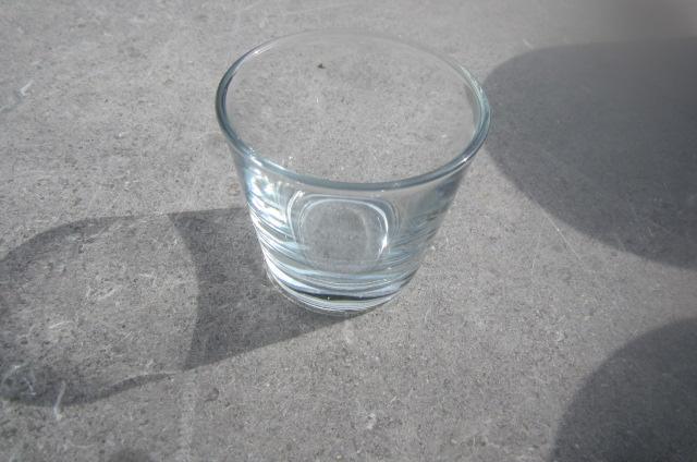 Theelichthouder glas 8 cm